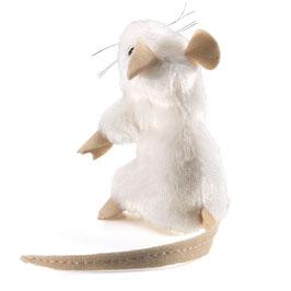 Folkmanis Fingerpuppe mini weiße Maus