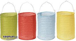 Papierlampions zylindrisch, Grundfarben, 4er Set