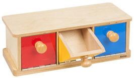 Holzkasten mit drei Fächern