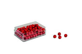 Kunststoffdose mit Perlen (100)