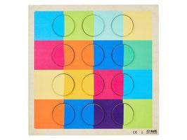 Reliefpuzzle Farbpaare, 32 Teile