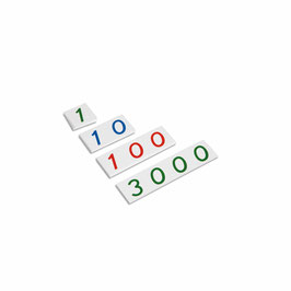 Kleine Zahlenkarten 1 - 3000 (Kunststoff)