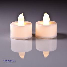 Teelichter LED hellgelb mit Batterien 2er Set