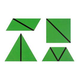 Satz konstructive Dreiecke grün