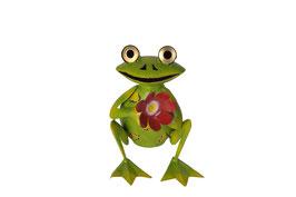 Frosch mit Blume