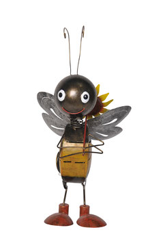 """Biene """"Sunny mit Sonnenblume"""" von Medusa"""