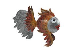 Fisch orange/silber XL