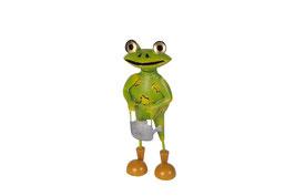 Frosch mit Gießkanne stehend