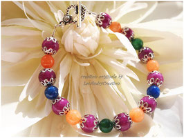 Bracelet Le printemps juste pour vous, et ses perles en pierres fines multicolores