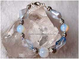Bracelet ROMANCE BLEU et Opalite