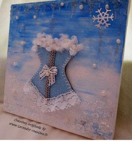 Tableau décor mariage princesse de glace IRINA bleu