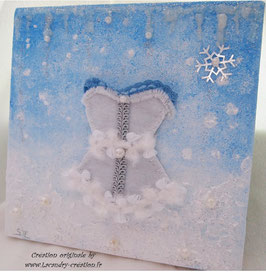 Tableau décoration mariage princesse de glace ELENA BLANC
