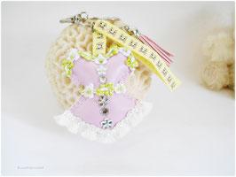 Bijou de sac Corset Kawaii, amour de chat, porte clés romantique, corset bustier rose
