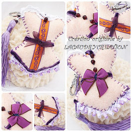 Bijou de sac corset romantique quand la violette adopte l'orange
