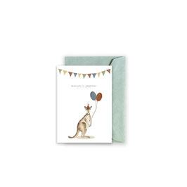 Grußkarte/ klappkarte  Känguru - Alles Gute zum Geburtstag -