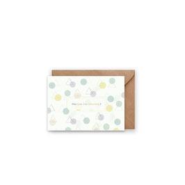 Grußkarte/ klappkarte Abstract - Alles Gute zum Geburtstag -
