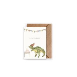Grußkarte/ klappkarte Dino Rex - Alles Gute zum Geburtstag -