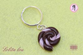 Sucette lollipop chocolat/rose dragée
