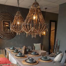Hanglamp houten kralen