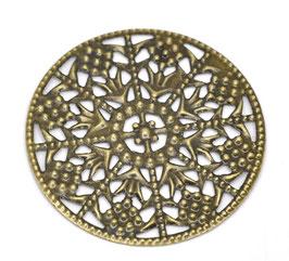Metall Ornament Bronze Nr.42 10 Stück