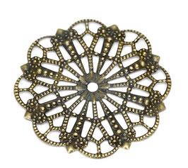 Metall Ornament Bronze Nr.26 10 Stück
