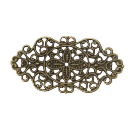 9 Metall Ornament Bronze Nr.9 10 Stück