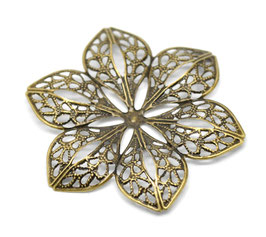 Metall Ornament Bronze Nr.37 10 Stück