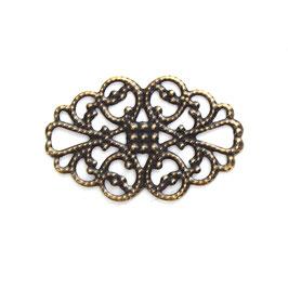 Metall Ornament Bronze Nr.50 10 Stück
