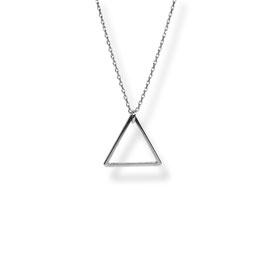 Luxury Dreieck Kette  Rhodiniert