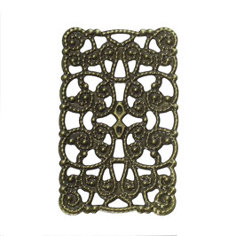 Metall Ornament Bronze Nr.41 10 Stück