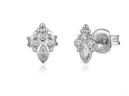 925 Sterlingsilber Ohrstecker Oriental Shine Silber