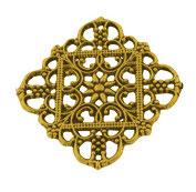 Metall Ornament Antikgold Nr.40 5 Stück