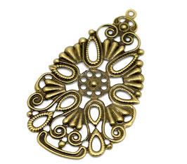 21 Metall Ornament Bronze Nr.21 10 Stück