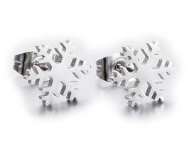 Edelstahl Ohrstecker Snowflake