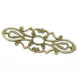 10 Metall Ornament Bronze Nr.10 10 Stück