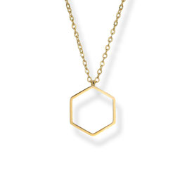 Luxury Hexagon  Kette  Vergoldet