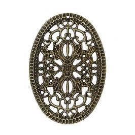 6 Metall Ornament Bronze Nr.6 10 Stück