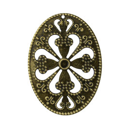 14 Metall Ornament Bronze Nr.14 10 Stück