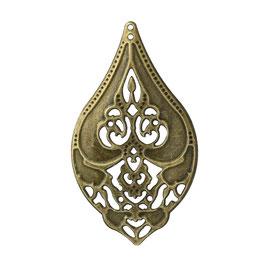 8 Metall Ornament Bronze Nr.8 10 Stück