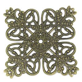 Metall Ornament Bronze Nr.43 10 Stück