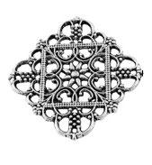 Metall Ornament Silber Nr.39 5 Stück