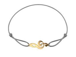 Armband Notenschlüssel Edelstahl Gold