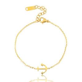 Armband Anker Edelstahl Gold