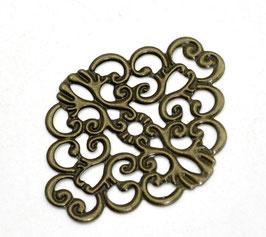 Metall Ornament Bronze Nr.31 10 Stück