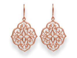 Oriental Ornament Ohrringe Rosegold