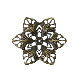 12 Metall Ornament Bronze Nr.12 10 Stück