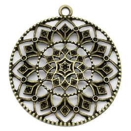 Metall Ornament Anhänger Bronze 2 Stück