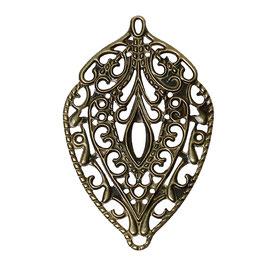 15 Metall Ornament Bronze Nr.15 10 Stück