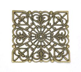 18 Metall Ornament Bronze Nr.18 10 Stück