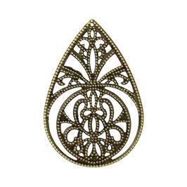 13 Metall Ornament Bronze Nr.13 10 Stück